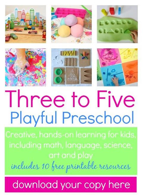 three to five playful preschool ebook hands on play based learning ideas for preschoolers