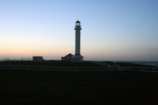 point arena lighthouse sunset