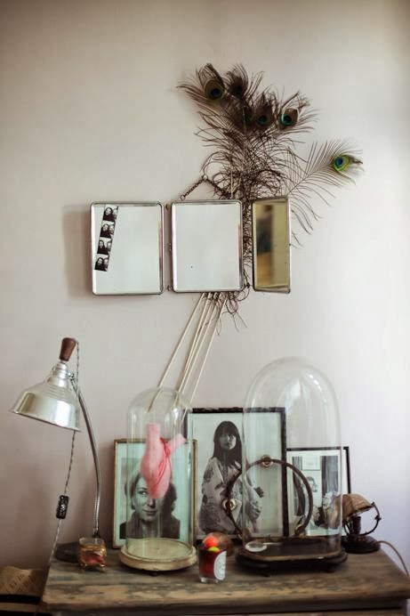 Decoraci n vintage con espejos de viaje etxekodeco - Espejo de viaje ...