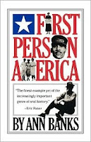 Cover of First Person America by Ann Banks