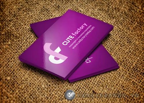 Card visit cán màng bóng 9