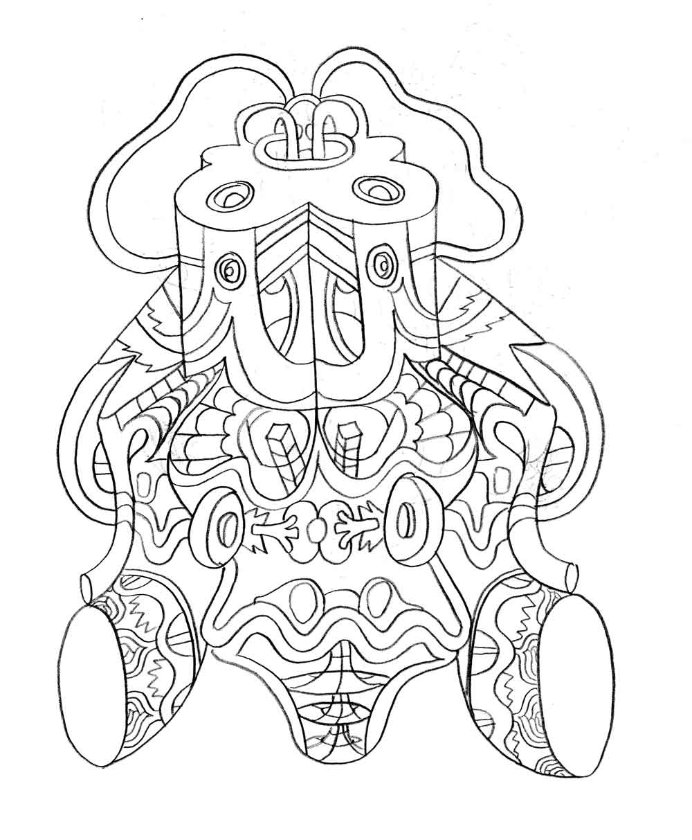 elephant ear coloring page search
