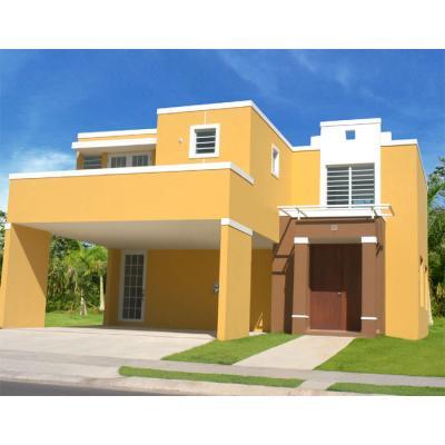 Miro colorado for Pinturas para exterior de casas modernas