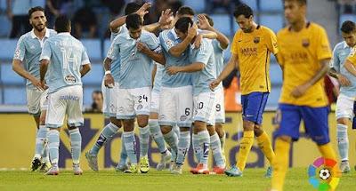 Cuplikan Gol Kekalahan Barcelona dari Celta Vigo 4-1, Kamis Dini Hari 24 Sept 2015