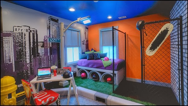 ideas urban bedrooms urban skater theme urban style decorating