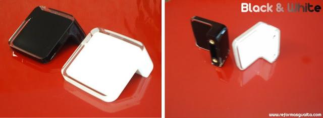 pomos y tiradores armario cocina negro blanco TAP210