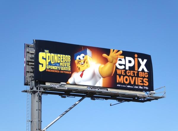 SpongeBob Movie Sponge out of water Epix billboard