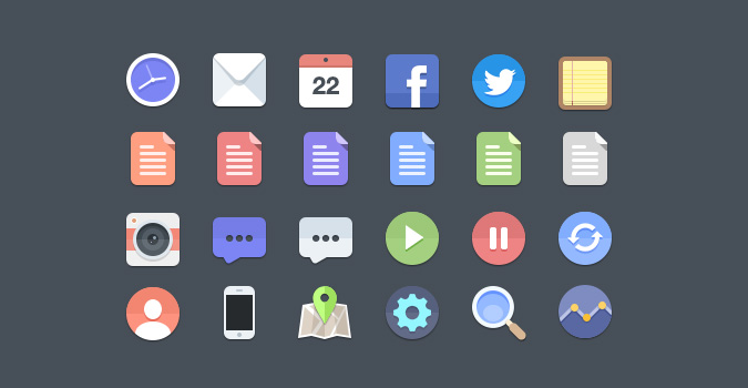 preview3 10 Amazing Free Download Flat Icons PSD