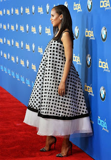 Baby Bump... Its Handled!! -Scandals Star, Kerry Washington's Flared-Out Maternity Dress to Directors Guild Awards
