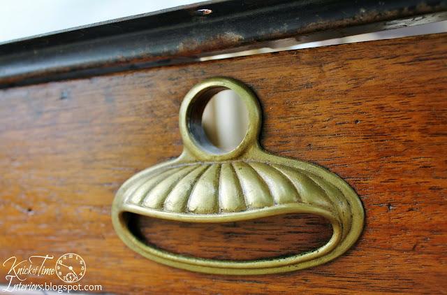 Vintage Brass Drawer Pull via KnickofTimeInteriors.blogspot.com