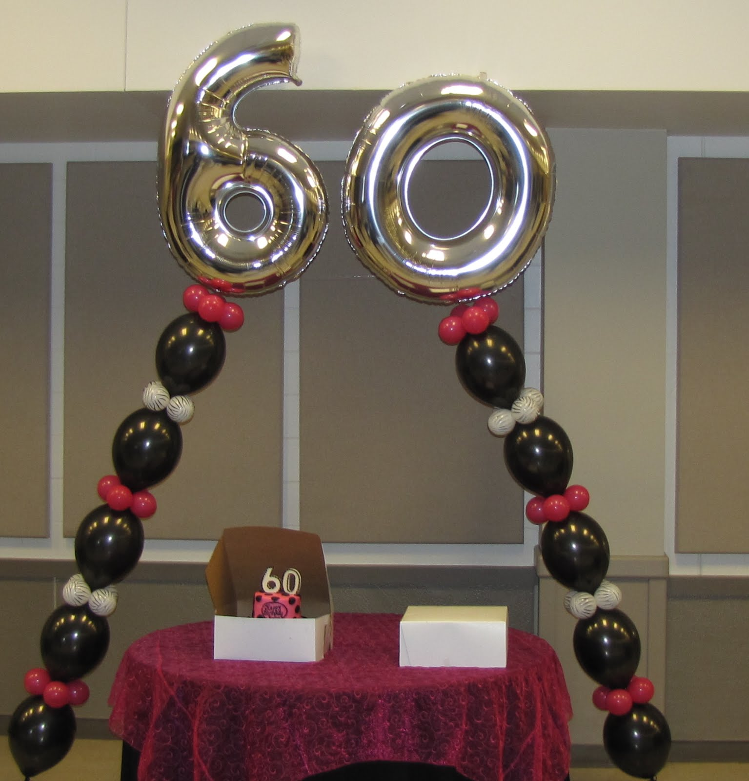 Party people event decorating company 60th birthday for 60th birthday decoration ideas