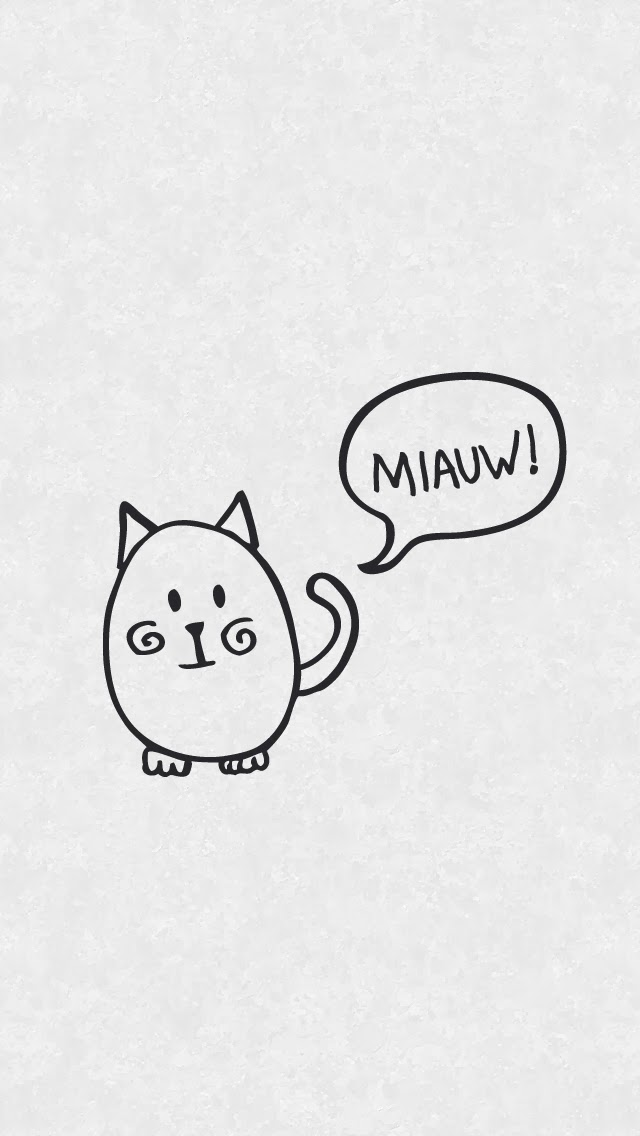 Free minimal cat wallpapers - Curly Made
