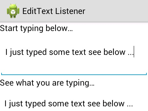 android edittext text change listener example