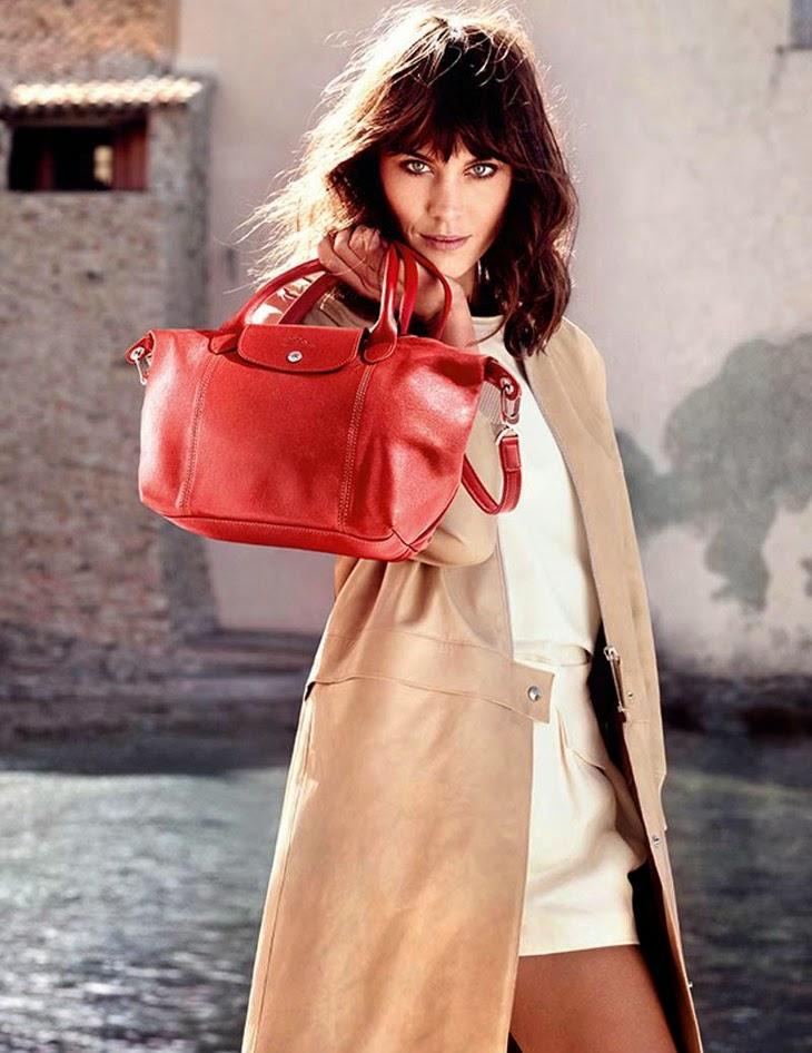 Magazine Photoshoot : Alexa Chung Photoshot For Longchamp Magazine Spring/Summer 2014 Issue