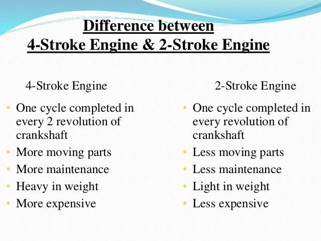 difference between 2 stroke and 4 stroke engines