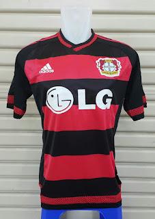 gambar kamera photo Jersey Bayer Leverkusen home terbaru Official musim 2015/2016 enkosa sport toko online baju bola