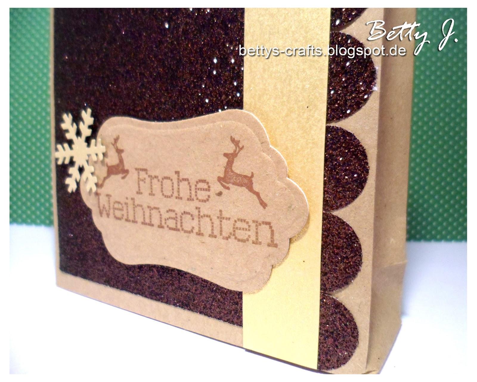 Bettys crafts frohe weihnachten geschenkt tchen - Weihnachten depot ...
