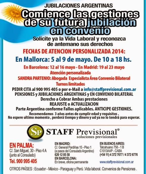 Convenio Jubilaciones Argentinas y Españolas