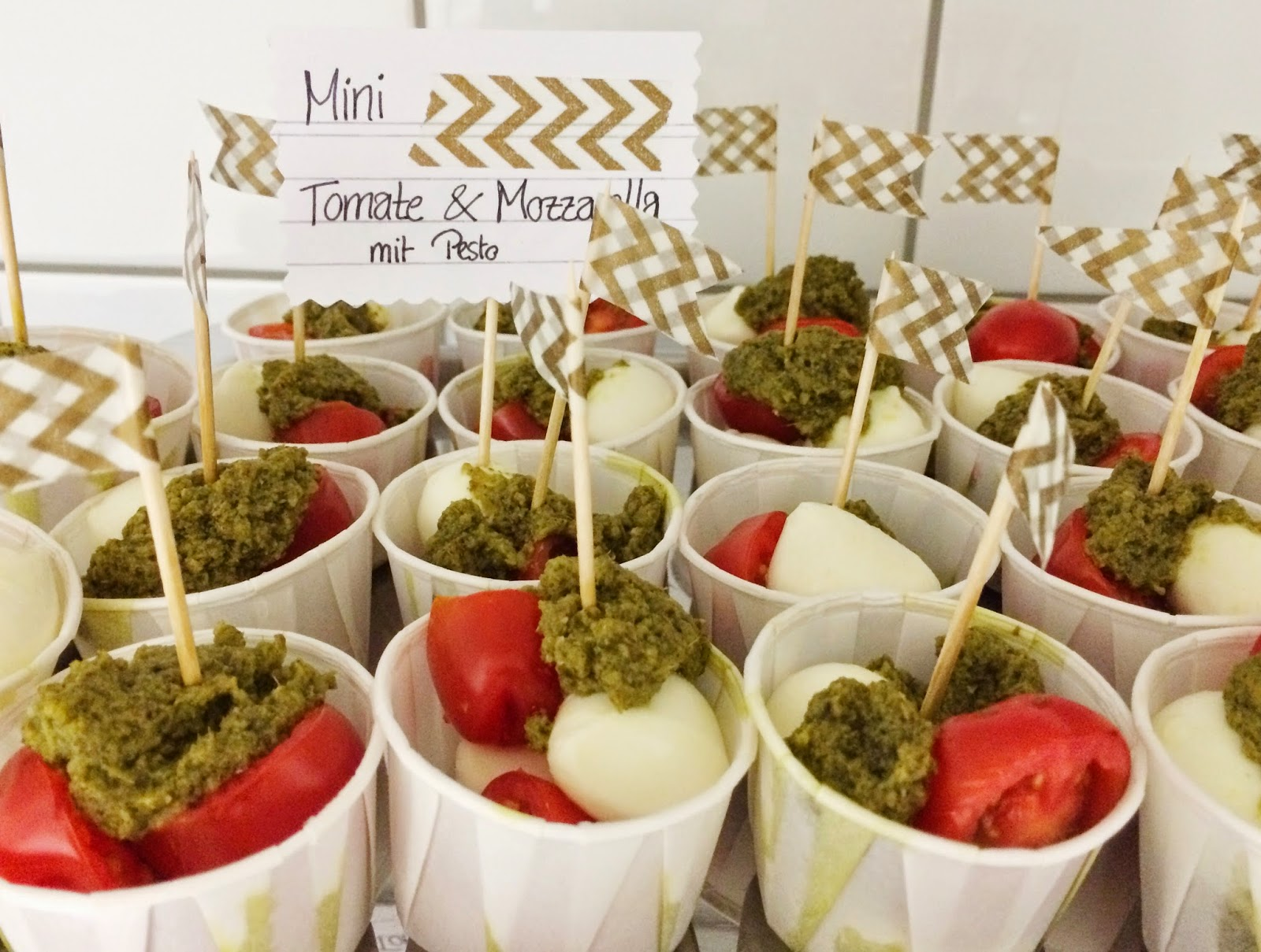 Tomate-Mozarella, Partyfood, Fingerfood