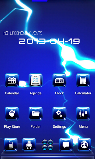 free apk blue sky for next launcher 3d v1 0 android full download blue
