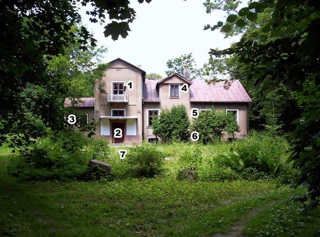 Dwór w Giełzowie widziany od wjazdu. Foto Paweł Kałwiński.