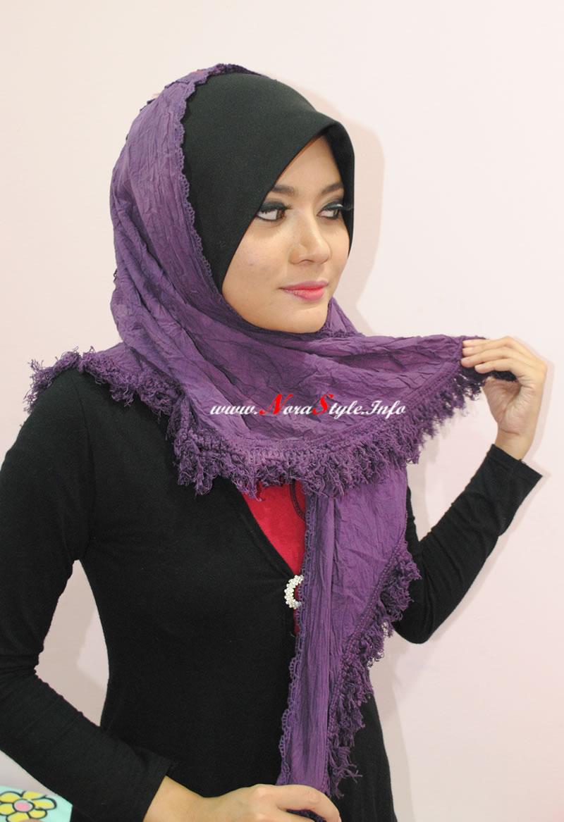 Cara Memakai Jilbab Modern Cara Pakai Tudung Bawal Najwa Latif Cara