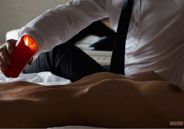 порно фото со свечей