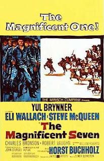 Cartel original de la película de los siete magníficos de John Sturges (1960)