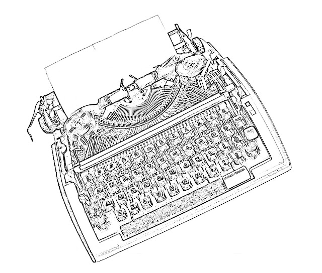 typewriter sketch