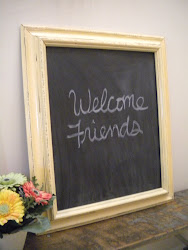 yellow magnetic chalkboard...SOLD