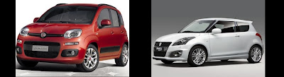 Fiat Panda and Suzuki Swift