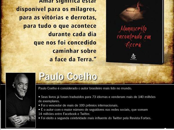 Lançamento da Editora Sextante: Manuscrito Encontrado em Accra do Paulo Coelho