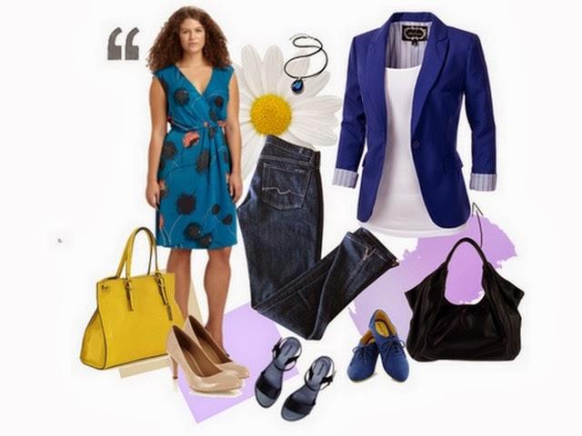 Vestido e blazer e acessórios