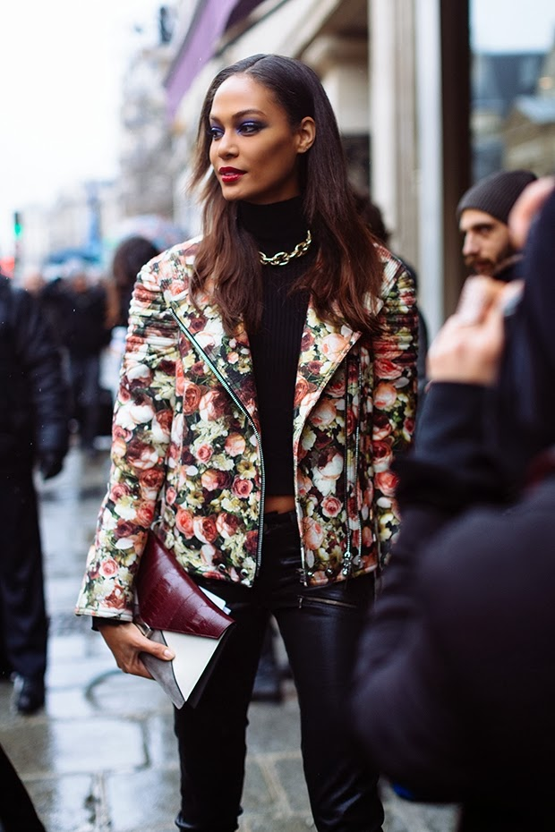 givenchy floral bker jacket street style