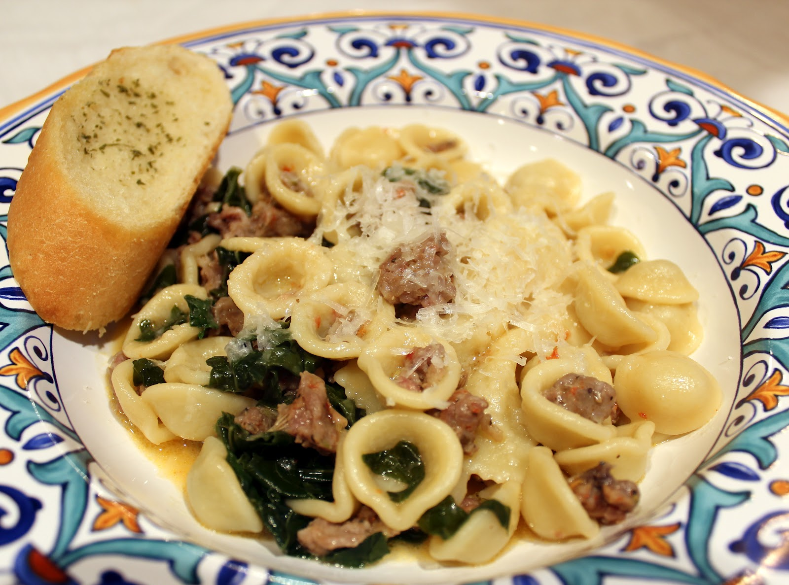Dinner Delish: Orecchiette Pasta with Sausage and Kale