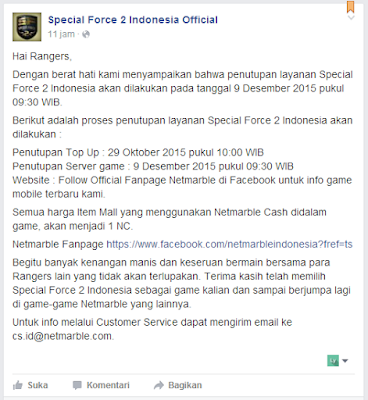 Game Online Special Force 2 Indonesia Mau Ditutup?