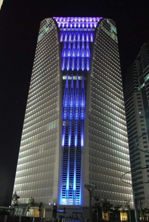 Jafri merican architect 4g9 tower facade lighting - Exterior architectural led lighting ...