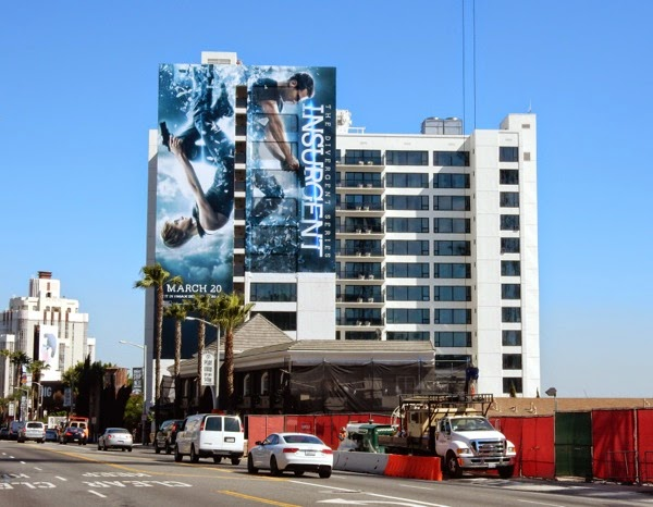 Giant Insurgent movie billboard Sunset Strip