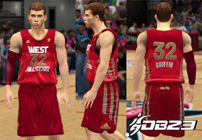 NBA 2K13 West All-Stars 2012 Jersey Update Mods