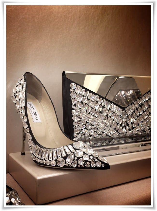 Jimmy Choo sparkly heels