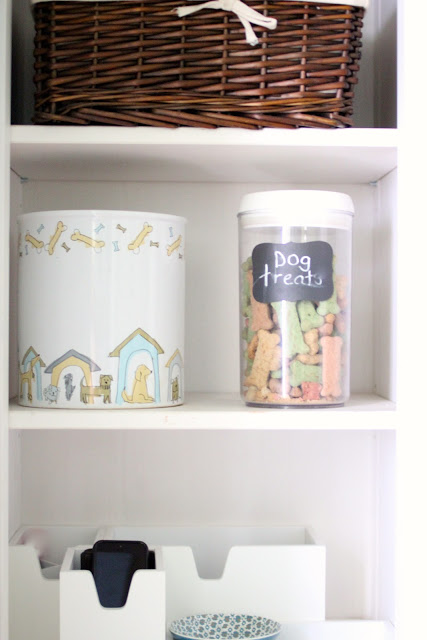 dog treats in mud room via www.goldenboysandme.com