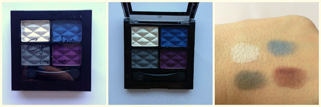City Color Eyeshadow Quad Review