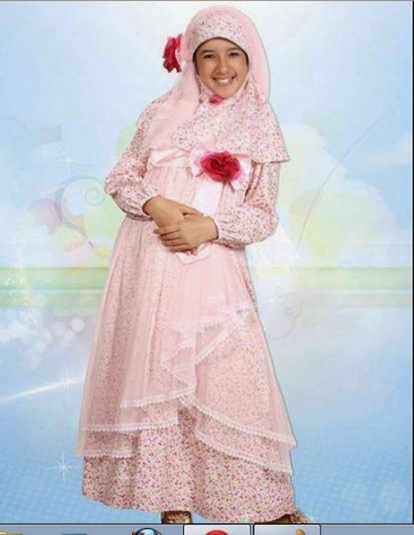 Contoh gamis baju muslim anak perempuan terbaru