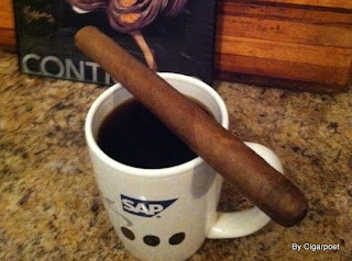 cigar and coffee