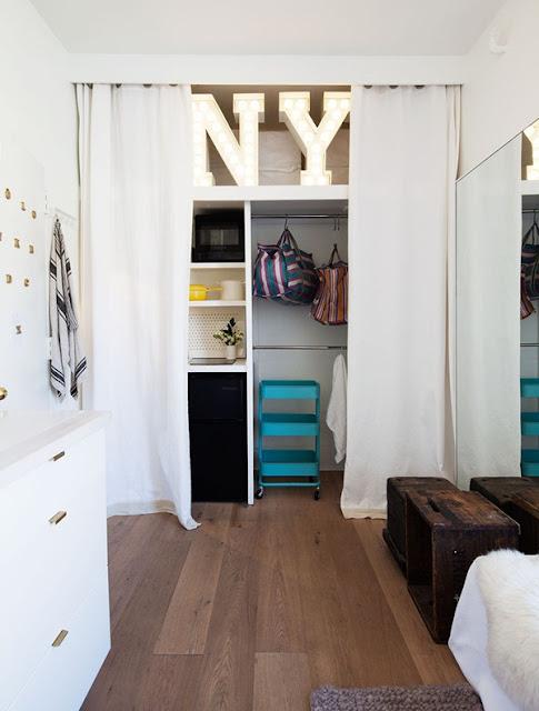 Góc lưu trữ của căn hộ nhỏ