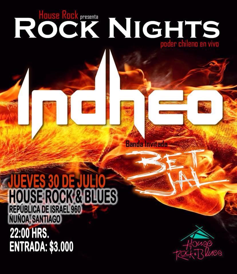Recitales en Chile : JULIO                                                              ROCK NIGHTS