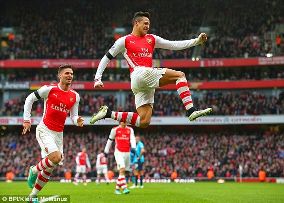 Video Gol Arsenal vs Stoke City 3-0