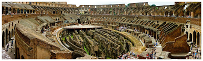 coliseum in rome panoramic image
