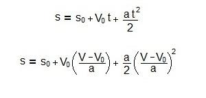 equação isolando o espaço