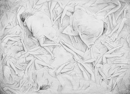 横浜美術学院の中学生向け教室 美術クラブ 言葉からイメージするデッサン『家』14